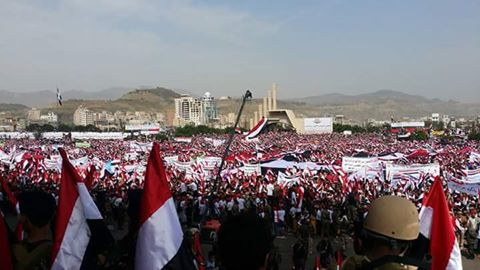 بدء فعاليات المسيرة الجماهيرية الأكبر في تاريخ اليمن بميدان السبعين