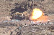 الإعلام الحربي وزع صور لاستهداف مواقع وتحصينات الجيش السعودي في نجران