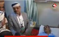 السامعي عضو المجلس السياسي يزور رئيس الاتحاد ويتفقد حجم الأضرار من قصف حي الرقاص