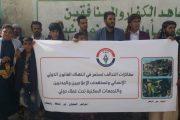 اتحاد الإعلاميين اليمنيين ينظم وقفة تضامنية مع رئيس الاتحاد صبري